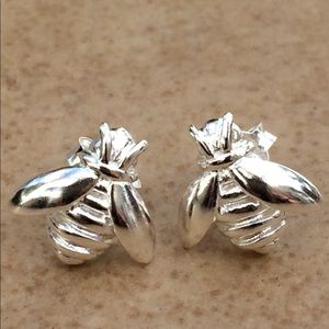 Jewelry - Sterling Silver 925 Bumble Bee Stud Earrings
